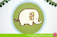 #Elephant Wall Hanging How-To: Coordinate party decorations by crafting some out of the paper plates.