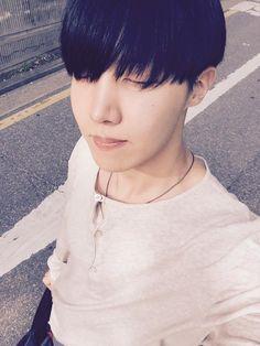 BTS Tweet - J-hope (selca) 150423 [tran]   ·~ ~ Heum ~ ~ the smell of comeback ~cr: BTS A.R.M.Y @BTS_ARMY