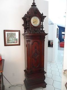 Grandfather Clock Unique  Special MUSICAL Symphonion w Gustav Becker Movement