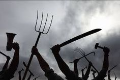 Image result for angry mob with pitchforks