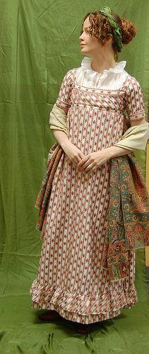 The Fashionable Past - A Regency Drop Front Dress--Construction!