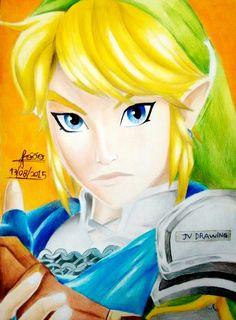 Link adulto na versão Hyrule Warriors feito por João Victor Cruz