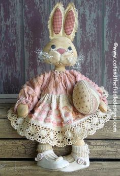 CF250 Hareloom Easter - PDF ePattern Cloth Rabbit Doll. $9.00, via Etsy.