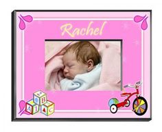Personalized Girls Wood Block Frame - http://www.247babygifts.net/personalized-girls-wood-block-frame/