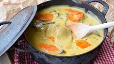 La recette de blanquette de veau, tellement bon - TonMag Super Simple, Fondue, Thai Red Curry, Cheese, Ethnic Recipes, Hui, Mushroom Gravy, Meal, Cooking Food