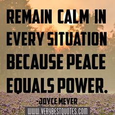 Remain-calm-in-every-situation-because-peace-equals-power.-Joyce-Meyer.jpg (500×500)