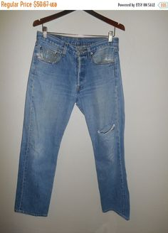 90's Levis 501 jeans by ATELIERVINTAGESHOP on Etsy