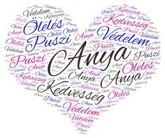 anyák napjára word cloud art created by SFJudit Mother's Day For Grandma, Mom Day, Word Cloud Art, Word Art, Grandma Quotes, Mothers Day Cards, Wall Art Designs, Creative Cards, Kids Learning
