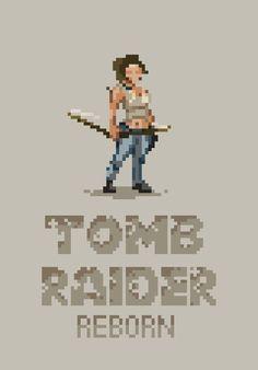 Tomb Raider Lara Created by Black Moon Design #pixel #gaming #tombraider