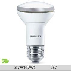 Bec LED Philips 2.7W E27 forma reflector, lumina calda  http://www.etbm.ro/tag/148/becuri-led-e27