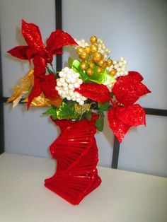 Soo Red! Flowers and Vase