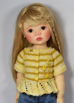 Yellow Sweater for Saffi by Meadowdolls Maggie & Kate Create