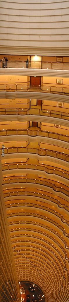 Balconies in the Jin Mao tower in Shanghai.