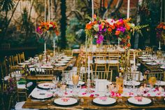 Wedding Themes A Mid Winter Night's Dream Wedding in Mexico: Mia Guillermo Wedding Themes, Wedding Colors, Wedding Decorations, Wedding Ideas, Sunset Wedding Theme, Bright Wedding Flowers, Wedding Backdrops, Ceremony Backdrop, Decor Wedding