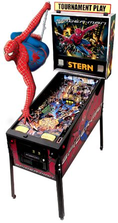 Kel had a spiderman pinball machine in her basement and  I had a wizarding pinball machine in mine...needless to say many hours were spent in the basement