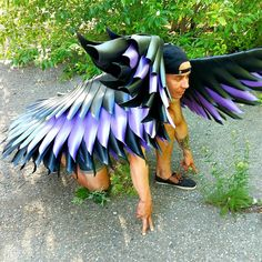 """""""Wings costume adult"""" Super Hero Costumes, Cool Costumes, Adult Costumes, Halloween Costumes, Dark Angel Costume, Angel Wings Costume, Black Angel Wings, Feather Angel Wings, Lucifer's Fall"""