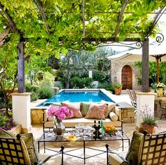 comfortable and modern backyard pool design ideas 14 Comfortable And Modern Backyard Pool Ideas. --pergola makes it an outdoor room