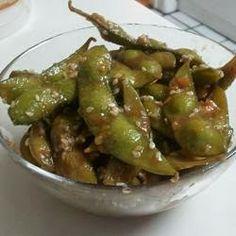 Garlic Teriyaki Edamame ~ Cocinando con Alena