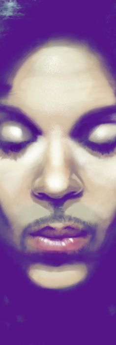 Prince Rogers Nelson  Painting by Ted Dollar