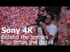 Petal Volcano- Amazing and beautiful! Sony 4K TV - Behind the scenes - Four times the detail