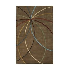 Home Decorators Collection Glimmer Hazel 5 ft. x 8 ft. Area Rug Contemporary Area Rugs, Contemporary Furniture, Rectangular Rugs, Rug Size, Wool Area Rugs, Wool Rug, Home Depot, Mocha, Sage