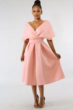 DaysCloth Pink Pleated Off Shoulder Backless High Waisted Banquet Formal Party Midi Dress Trend Fashion, Womens Fashion, Fashion Top, Cheap Fashion, Fashion Styles, Latest Fashion, Fishtail Maxi Dress, Sequin Party Dress, Party Dresses