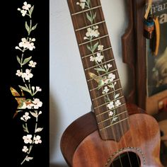 Ukulele Tree of Life w/Hummingbird Fret Markers Inlay Stickers Decals--yep, these would look nice on my uke