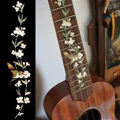 Ukulele Tree of Life w/Hummingbird Fret Markers Inlay Stickers Decals--yep, these would look nice on my uke