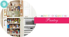 15 minute organizing tips.