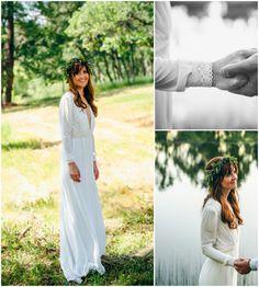 Classic Wedding Dress, Chiffon Wedding Dress #weddings #clothing #weddinggown @EtsyMktgTool http://etsy.me/2g7nrZU