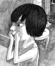 alguien ha visto mi gato?, ilustración de Joanna Hellgren