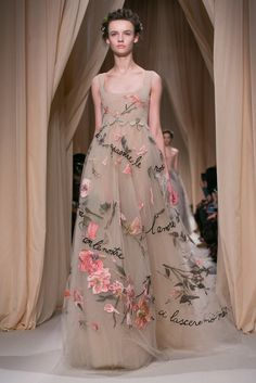 A look from the Valentino Spring 2015 Couture collection. A look from the Valentino Spring 2015 Couture collection.  If I shortened the skirt to knee-length and paired it with a sweater shell on top, it could work for daytime activities.