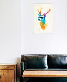 Sunny deer als Premium Poster