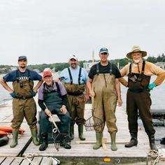 The farm crew at Onset Oyster Corp. off Cape Cod, Massachusetts. Coastalliving.com