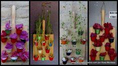Mini Jardín Vertical con flores secas y con lentejas