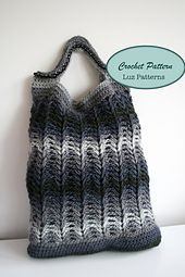 Ravelry: crochet shopper bag pattern, crochet clutch bag pattern (131) pattern by Luz Mendoza