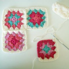 How to join granny squares using the join-as-you-go method. Tutorial on blog :)