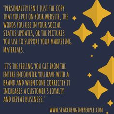 Personality is more than content! #brandpersonality #branding #content