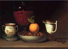 Charles Willson Peale.Still Life: Strawberries, Nuts