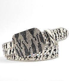 zebra bling belt