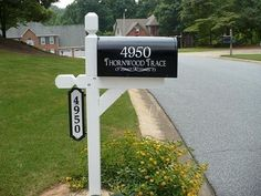 Mail Box Decals with House Numbers and Street Name $14.00