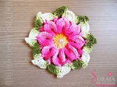 Resultado de imagem para flores de croche marcelo nunes receita