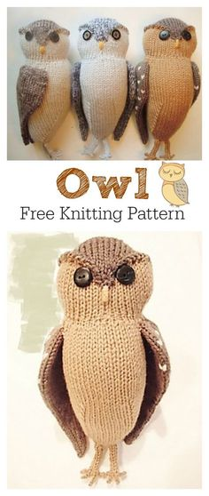 Adorable Puff Owl Free Knitting Pattern knitting for beginners knitting ideas knitting patterns knitting projects knitting sweater Owl Knitting Pattern, Animal Knitting Patterns, Knitting Kits, Easy Knitting, Knitting For Beginners, Loom Knitting, Knitting Projects, Crochet Patterns, Scarf Patterns