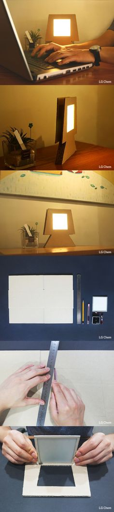 Ever made a lamp out of paper? Explore the possibilities of the Oled DIY Kit by LG Display.
