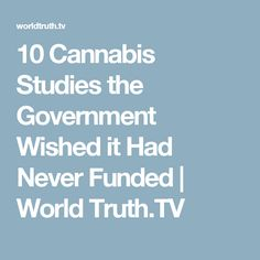 10 Cannabis Studies the Government Wished it Had Never Funded | World Truth.TV