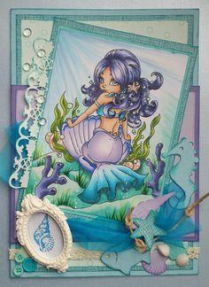 Mermaid Mermaid Images, Mermaid Photos, Mermaid Art, Mermaid Tails, Mermaid Princess, Whimsy Stamps, Digi Stamps, Copic Sketch, Mermaid Coloring