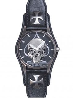 """Skull and Spade"" Watch by Controse (Black)"