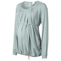 Mamalicious New vince l/s solid woven top Nee | LE DéBUT |
