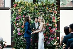 """The Newlyweds Wore Hawaiian Wedding Leis To Say """"I Do"""" in Brooklyn Wedding Couples, Our Wedding, Unique Wedding Venues, Magical Wedding, Leis, Wedding Dress Styles, Engagement Couple, Newlyweds, Getting Married"""