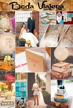 Inspiración para tu boda inspirada en Viajes. Para novios viajeros